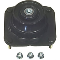 Strut Mount Bushing - Black, Steel and rubber, Direct Fit, Sold individually