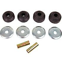 MK7145 Strut Rod Bushing - Black, Thermoplastic, Direct Fit, 2-arm set