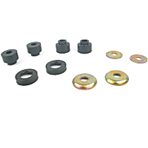 MK8181 Radius Arm Bushing - Black, Rubber, Direct Fit, Set of 2