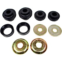 MK8295 Radius Arm Bushing - Black, Rubber, Direct Fit, Set of 2