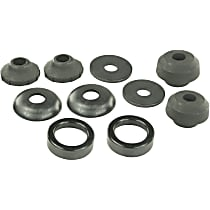 MK8361 Radius Arm Bushing - Black, Rubber, Direct Fit, Set of 2