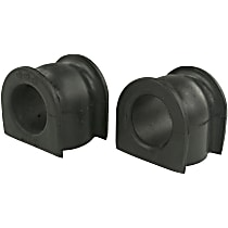 Sway Bar Bushing - Black, Rubber, Non-greasable, Direct Fit, Set of 2
