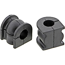 Sway Bar Bushing - Rubber, Non-greasable, Direct Fit, Set of 2