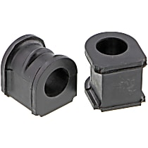 Sway Bar Bushing - Rubber, Non-greasable, Direct Fit, Set of 2 Front