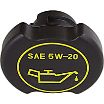 Motorcraft EC-787 Oil Filler Cap - Black, Plastic, Direct Fit, Sold individually