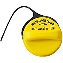 Gas Cap - Yellow, Non-locking, Direct Fit, Sold individually
