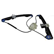 WLR-104 Front, Driver Side Power Window Regulator, Without Motor