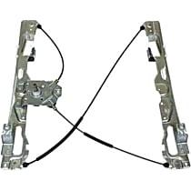 WLR-134 Front, Driver Side Manual Window Regulator, Manual Crank Type