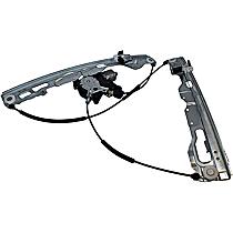 WLRA-151 Front, Passenger Side Power Window Regulator, With Motor