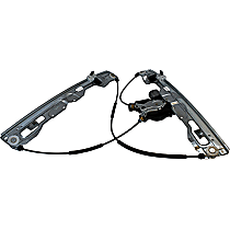 WLRA-152 Front, Driver Side Power Window Regulator, With Motor
