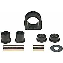 Moog K200208 Steering Rack Bushing - Black, Rubber, Direct Fit, Kit