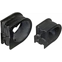 Moog K7112 Steering Rack Bushing - Black, Rubber, Direct Fit, Sold individually Front