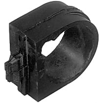 Steering Rack Bushing - Black, Rubber, Direct Fit, Sold individually