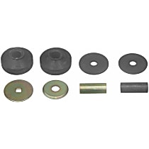 Strut Mount Bushing - Black, Rubber, Direct Fit, Kit