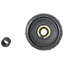 Strut Mount Bushing - Black, Rubber, Direct Fit, Sold individually Front