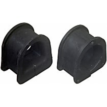 Steering Rack Bushing - Black, Rubber, Direct Fit, Sold individually Front