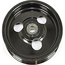 Mopar 53011017 Power Steering Pump Pulley - Black, Direct Fit, Sold individually