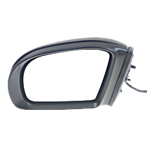 Mirror - Driver Side, Power, Heated, Folding, Paintable, With Turn Signal and Puddle Lamp