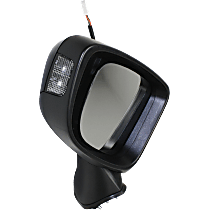 Mirror - Driver Side, Power, Folding, Paintable, With Turn Signal