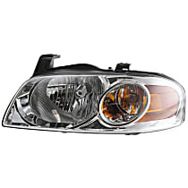 Driver Side Headlight, With bulb(s) - 04-06 Sentra (Base/S Model)