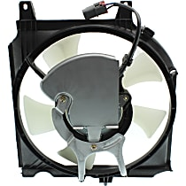 OE Replacement A/C Condenser Fan - Fits 1.6L w/ Auto or 2.0L w/ Manual Trans., Passenger Side