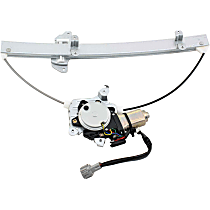 Front, Driver Side Power Window Regulator, With Motor