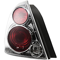 Driver Side Tail Light, With bulb(s) - Clear Lens, Exc. SE-R Model