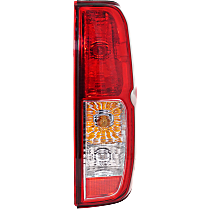 Passenger Side Tail Light, With bulb(s) - Clear & Red Lens, To 2-14