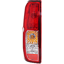 Driver Side Tail Light, With bulb(s) - Clear & Red Lens, To 2-14
