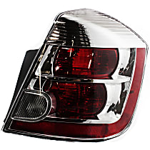 Passenger Side Tail Light, With bulb(s) - Clear & Red Lens, 2.0L Eng.