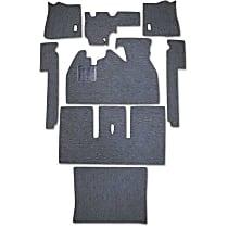 111B-BK Carpet Kit - Black, Loop carpet