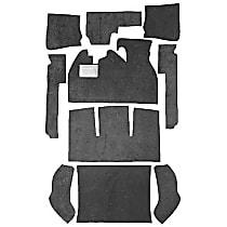 112-BK Carpet Kit - Black, Loop carpet