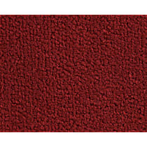 Front Carpet Kit - Red, Loop carpet