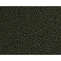 Front Carpet Kit - Green, Loop carpet