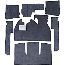 VW 7-PC. PADDING Carpet Padding - Polypropylene, Flat Floor Mat, May Require Minor Modification, 7 Pieces