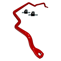 REV003.0122 Front Sway Bar - Non-Adjustable, Steel, 24 mm Powdercoated red, Sold individually