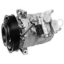 471-0714 A/C Compressor Sold individually With clutch, 6-Groove Pulley