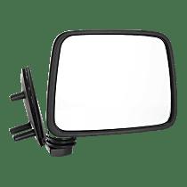 Mirror - Passenger Side, Folding, Chrome, Black Base