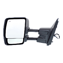 Towing Mirror Heated - Driver Side, Power Glass, Chrome