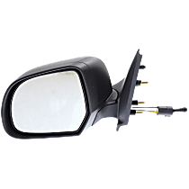 Mirror - Driver Side, Manual Remote, Folding, Textured Black, For Sedan