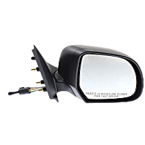Mirror - Passenger Side, Manual Remote, Folding, Textured Black, For Sedan