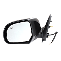 Mirror - Driver Side, Power, Folding, Heated, Folding, Paintable, For Sedan