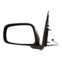 Mirror - Driver Side, Power, Heated, Folding, Paintable, For Crew Cab