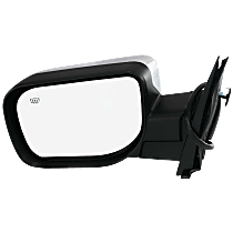 Mirror Manual Folding Heated - Driver Side, Power Glass, Chrome