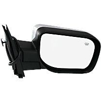 Mirror Manual Folding Heated - Passenger Side, Power Glass, Chrome