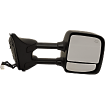 Towing Mirror Manual Folding Heated - Passenger Side, Power Glass,With Blind Spot Corner Glass, Chrome