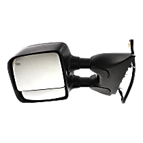 Mirror - Driver Side, Towing, Power, Heated, Folding, Textured Black, With Memory, With Blind Spot Glass, For Towing Package