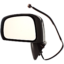 Mirror - Driver Side, Power, Folding, Paintable, For Sedan or Hatchback