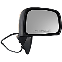 Mirror - Passenger Side, Power, Folding, Paintable, For Sedan or Hatchback