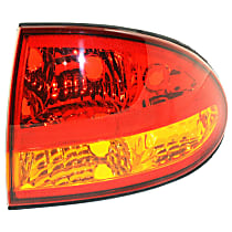 Passenger Side Tail Light, Without bulb(s) - Amber & Red Lens